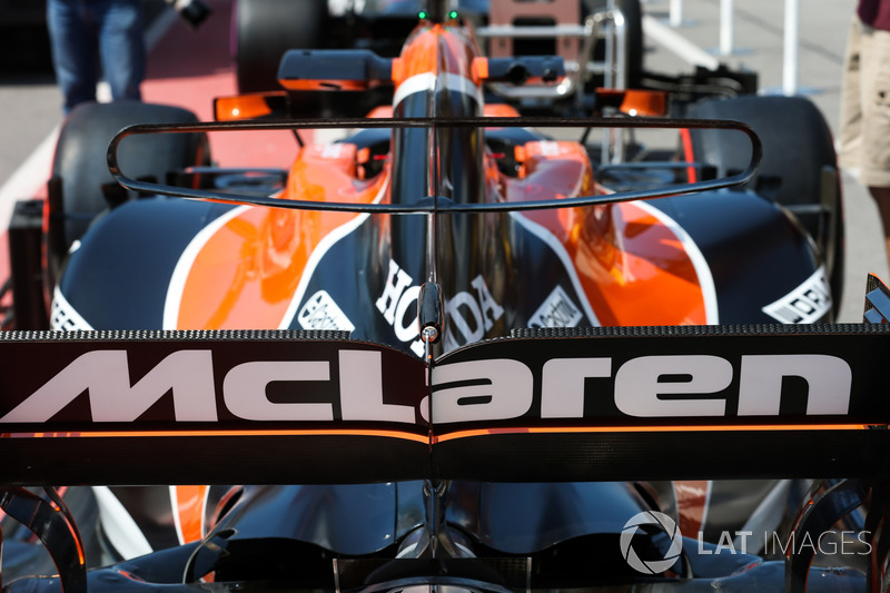 McLaren MCL32, T-Flügel und Heck von oben