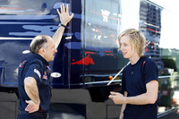 Franz Tost, Team Principal, Scuderia Toro Rosso, Brendon Hartley, Red Bull Racing third driver