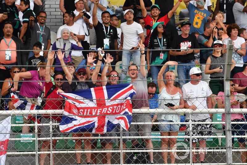 Des fans de Silverstone