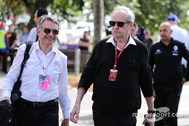 Patrice Ratti, Gerente de General de coches Renault Sport con Jerome Stoll, Presidente de Renault Sport F1