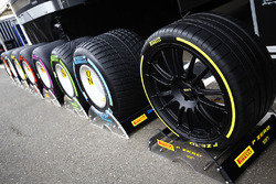 A selection of Pirelli tyres