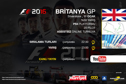 F1 2016 Britanya Online Turnuva