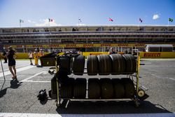 Pirelli tyres on the grid