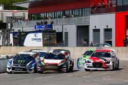 Johan Kristoffersson, Volkswagen Team Sweden, VW Polo GTi; Kevin Eriksson, MJP Racing Team Austria, Ford