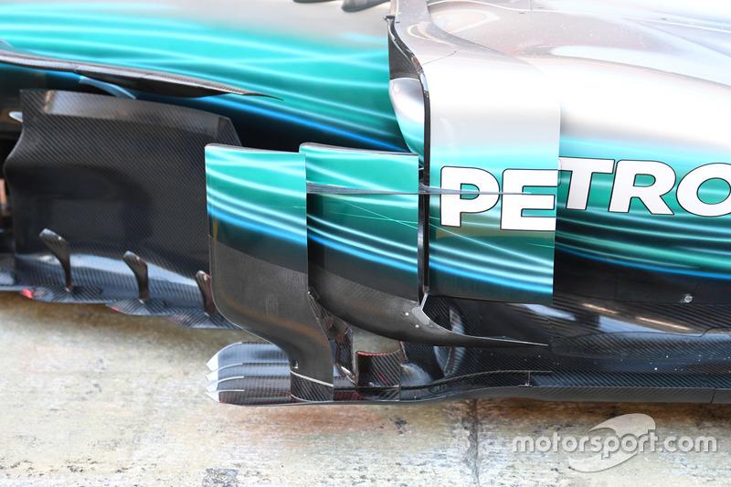 Боковой понтон Mercedes-Benz F1 W08