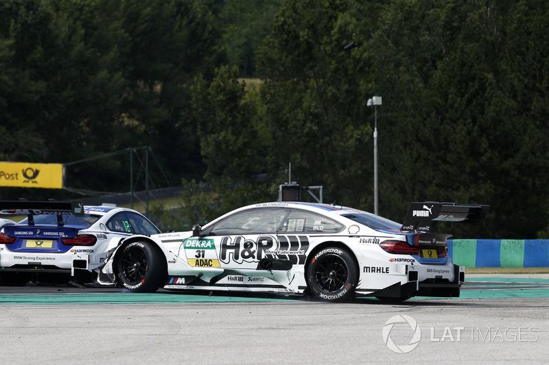 Tom Blomqvist, BMW Team RBM, BMW M4 DTM, spins
