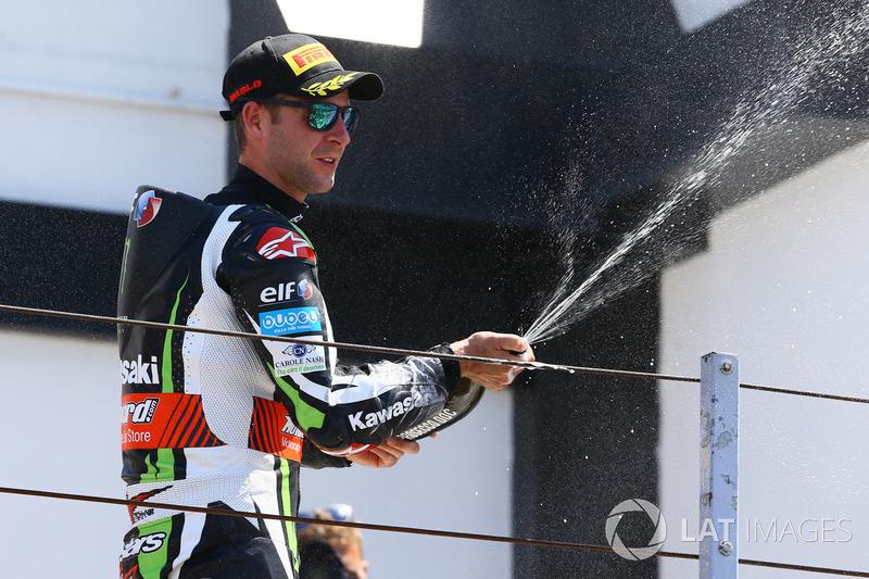 Podio: Tercer lugar Jonathan Rea, Kawasaki Racing
