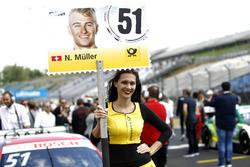 Gridgirl von Nico Müller, Audi Sport Team Abt Sportsline, Audi RS 5 DTM