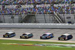 Ricky Stenhouse Jr., Roush Fenway Racing Ford,David Ragan, Front Row Motorsports Ford, Darrell Wallace Jr, Trevor Bayne, Roush Fenway Racing Ford