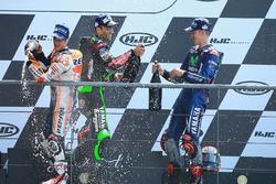Podyum: Yarış galibi Maverick Viñales, Yamaha Factory Racing, 2. Johann Zarco, Monster Yamaha Tech 3, 3. Dani Pedrosa, Repsol Honda Team