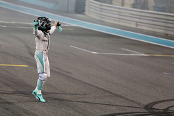 Second place Nico Rosberg, Mercedes AMG F1 celebrates his World Championship at the end of the race
