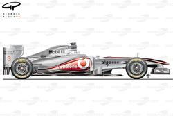 McLaren MP4/26 side view, Australian GP