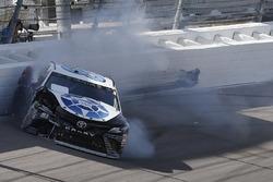 Corey LaJoie, BK Racing Toyota crash