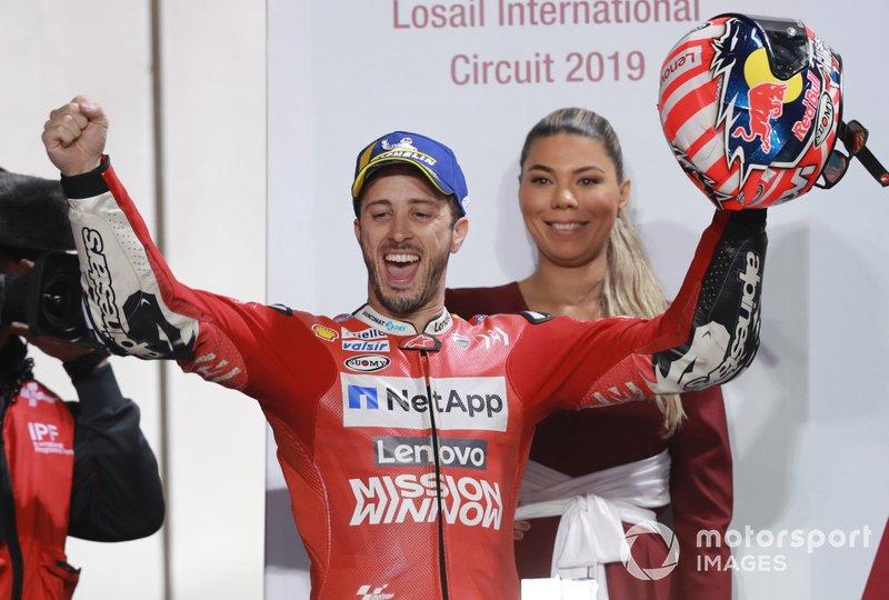 Podio: il vincitore Andrea Dovizioso, Ducati Team