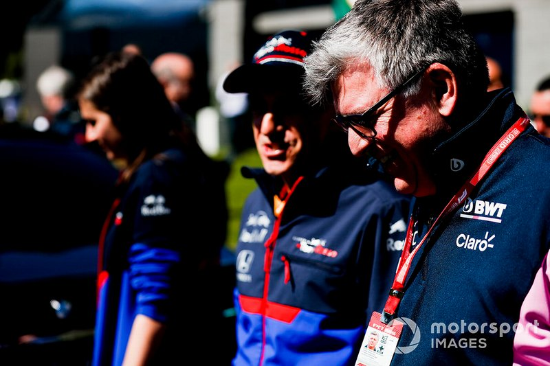 Otmar Szafnauer, Chief Operating Officer, Racing Point, Franz Tost, Team Principal, Toro Rosso