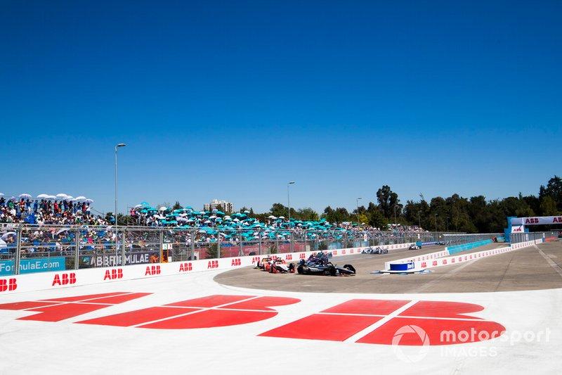 Sébastien Buemi, Nissan e.Dam, Nissan IMO1 Pascal Wehrlein, Mahindra Racing, M5 Electro, Daniel Abt, Audi Sport ABT Schaeffler, Audi e-tron FE05
