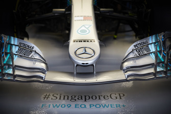 The nose of the Mercedes AMG F1 W09 EQ Power+