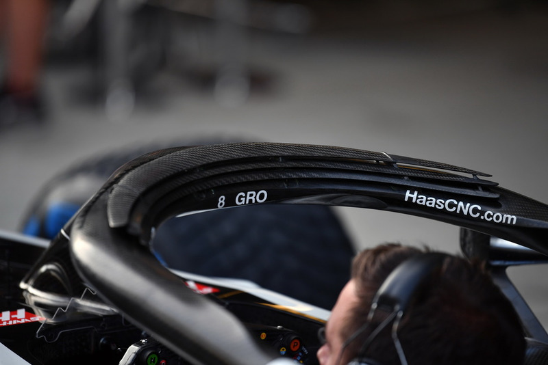 Vue détaillée du Halo de la Haas F1 Team VF-18