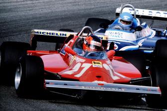Gilles Villeneuve, Ferrari 126CK, Patrick Tambay, Ligier JS17