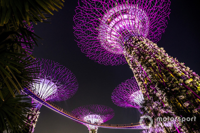 La iluminación de los jardines de Singapur