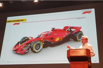 روس براون يعرض فكرة تصميم سيارات الفورمولا واحد لموسم 2021