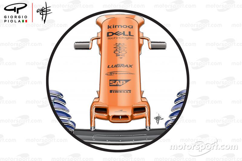 Nariz el GP de los Estados Unidos en el McLaren MCL33