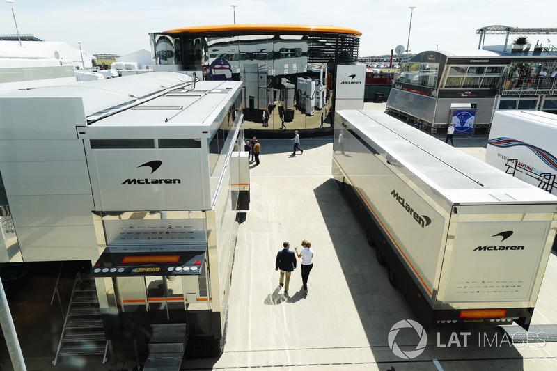 McLaren trucks in the Paddock