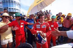 Il vincitore della gara Alain Prost, McLaren MP4/3