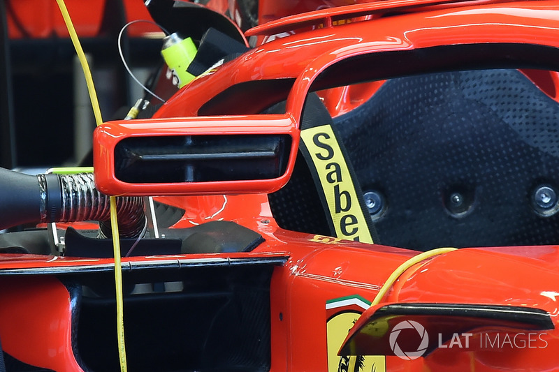 Ferrari SF71H mirror on halo
