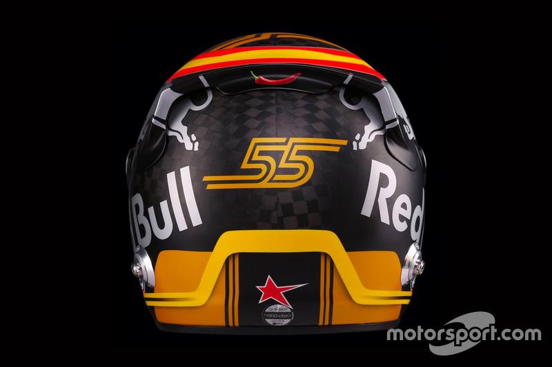 Le casque de Carlos Sainz, Renault Sport F1 Team