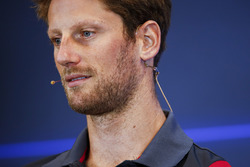 Romain Grosjean, Haas F1 Team, in the press conference