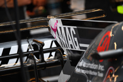 Haas F1 Team VF-17 engine cover fin detail