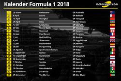 Календар Формули 1 2018 року