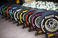 The new-for-2018 range of Pirelli F1 tyres