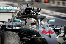 Race winner Lewis Hamilton, Mercedes AMG F1 W09 in Parc Ferme