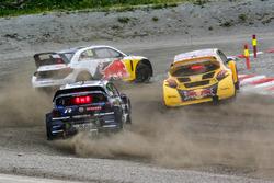 Petter Solberg, PSRX Volkswagen Sweden, Kevin Hansen, Team Peugeot Total