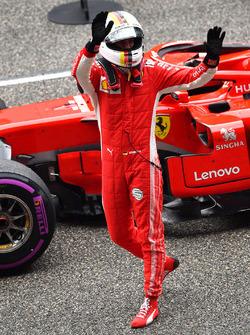 Обладатель поула Себастьян Феттель, Ferrari SF71H