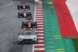 The safety car leads Callum Ilott, ART Grand Prix