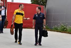 Cyril Abiteboul, Renault Sport F1 Direktörü, Christian Horner, Red Bull Racing Takım Patronu