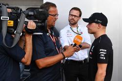 Valtteri Bottas, Mercedes-AMG F1 talks with the media