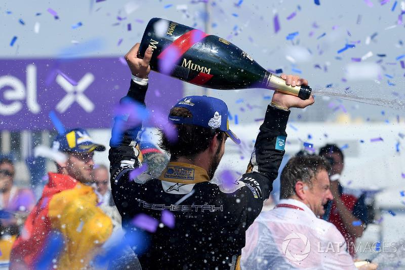 Jean-Eric Vergne, Techeetah, gana la carrera