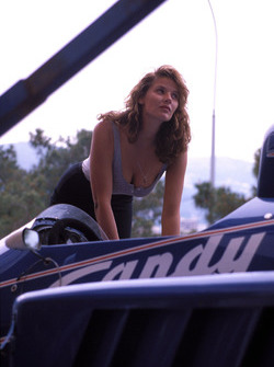 GP de Mónaco 1985, una chica