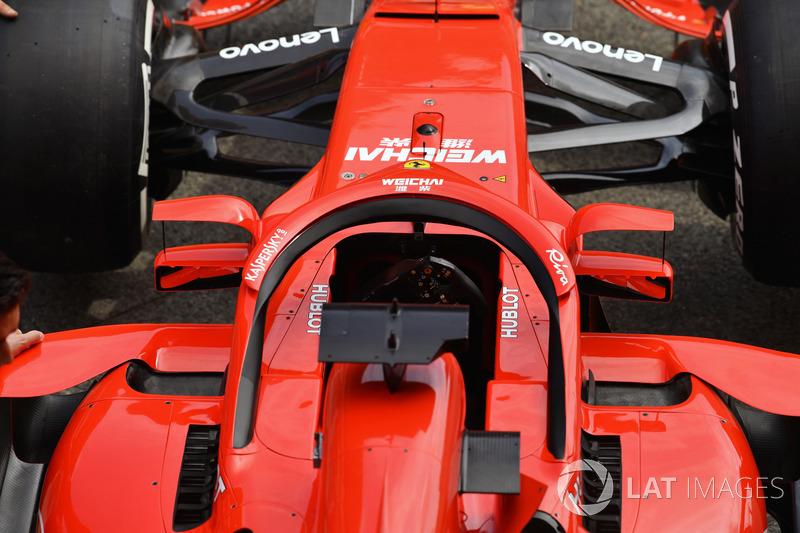 Detail kaca spion halo Ferrari SF71H
