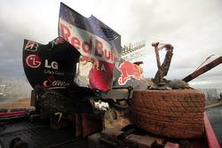 EL coche chocado de Mark Webber, Red Bull Racing RB6