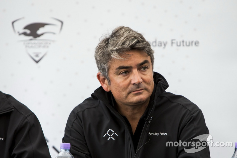 Dragon Racing and Faraday Future press conference, Marco Mattiacci, Global Chief Brand and Commercial Officer, Faraday Future