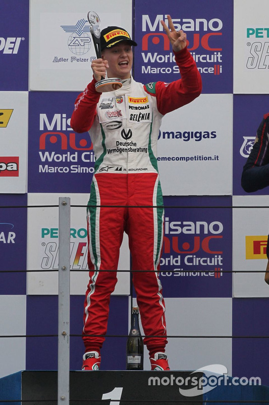 Race winner, Mick Schumacher, Prema Power Team