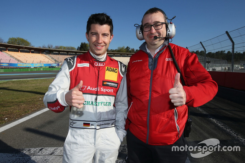 Mike Rockenfeller, Audi Sport Team Phoenix and Arnau Niubo