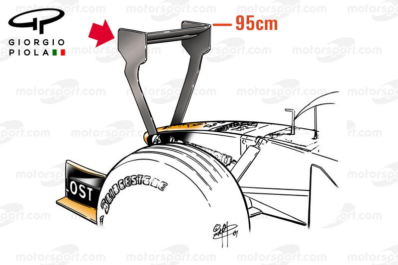 Arrows A22 dengan winglet unik, GP Monako 2001