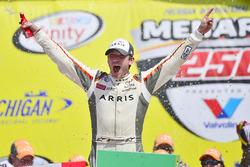 Race winner Daniel Suarez, Joe Gibbs Racing Toyota