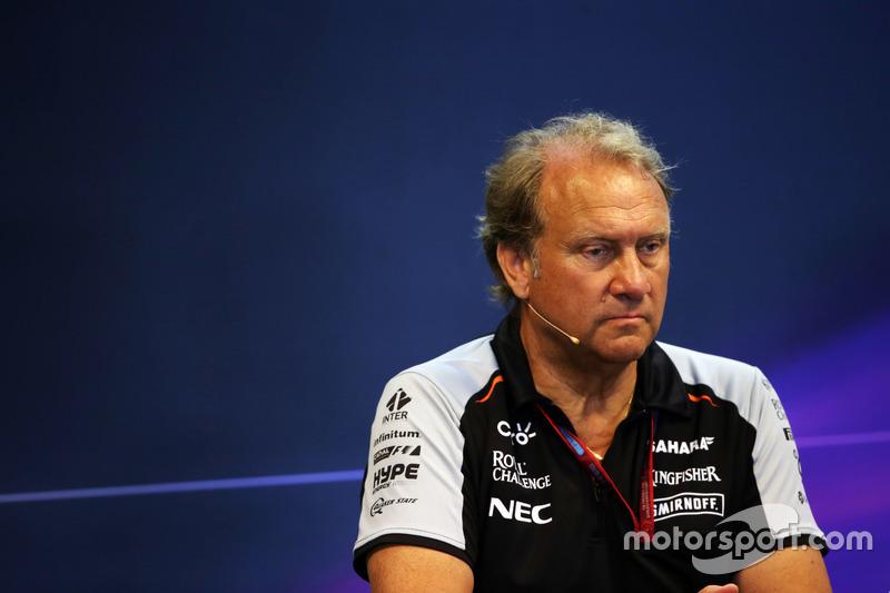 Robert Fernley, Sahara Force India F1 Team Deputy Team Principal in the FIA Press Conference